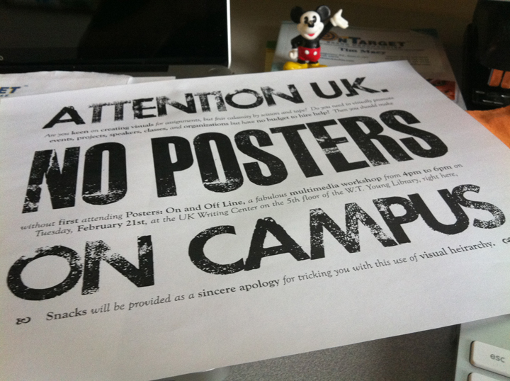 NO POSTERS