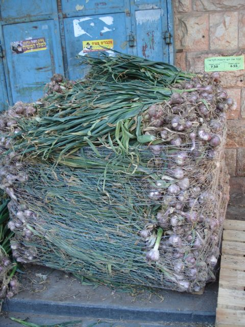 Fresh garlic at Machne Yehuda