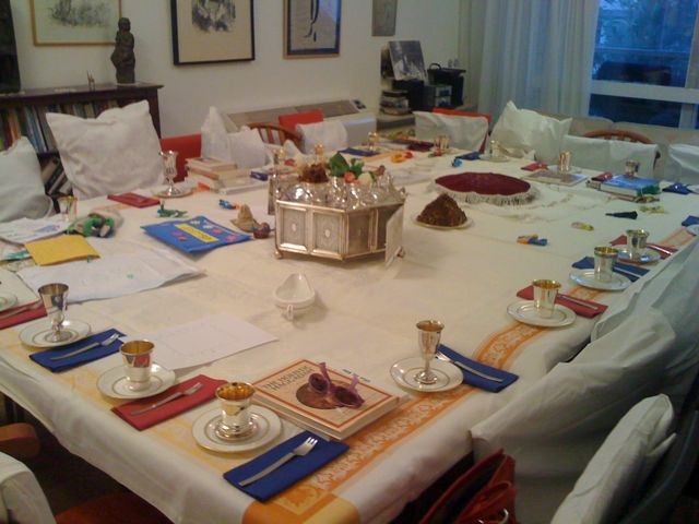 Seder table set