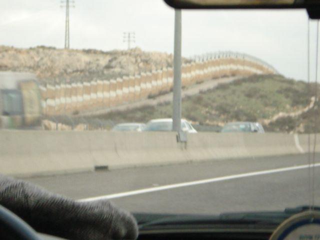 443 Separation barrier on the left.
