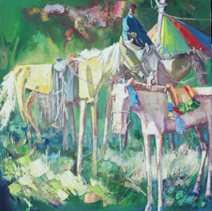 """Living Landscapes"" will also feature three art exhibitions of work by the faculty of the Art College of Inner Mongolia, the faculty of the UK School of Art and Visual Studies, and students of both programs. Photo of ""Human and Horse Series"" by Boasibagen."
