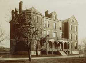 The New Dormitory, the second building added to the institution's original three buildings, was constructed in 1890 at a cost of 4,500. Photo courtesy of UK Special Collections.