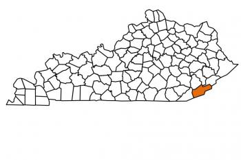 harlan county state map