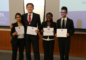 The winning team at the Global Health Case Competition