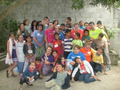 Drew Ritzel and others on an ASB trip in Nicaragua.