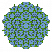 A Penrose tiling of thick and thin rhombi.