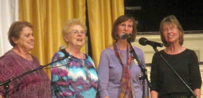 """Singing Family of the Cumberlands"" is in the spotlight with an appearance by four of Jean Ritchie's nieces, Susie Ritchie, Patty Tarter, Judy Hudson and Joy Powers."