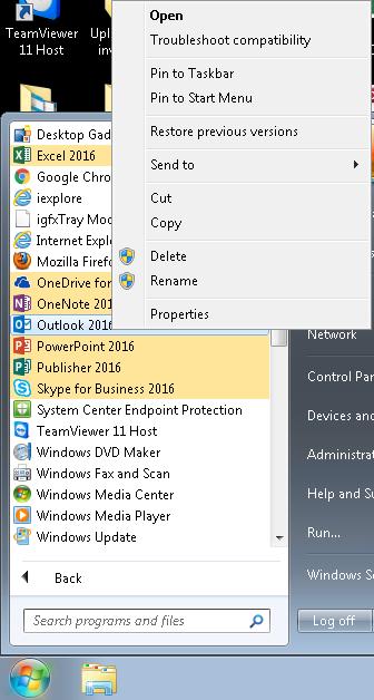 Reestablishing Microsoft Office Desktop Shortcuts | College of Arts